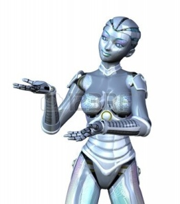 7972824-3d-render-featuring-a-female-robot-posed-as-if-she-is-presenting-or-displaying-an-object